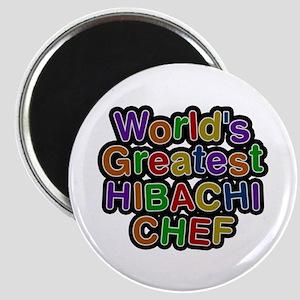 World's Greatest HIBACHI CHEF Round Magnet
