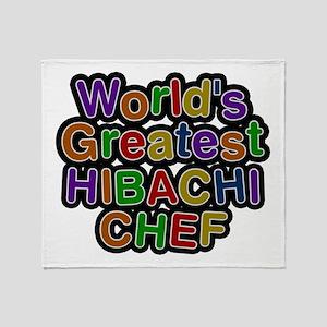 World's Greatest HIBACHI CHEF Throw Blanket