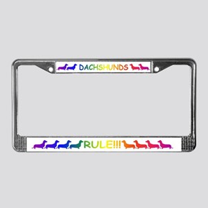 Dachshund License Plate Frame