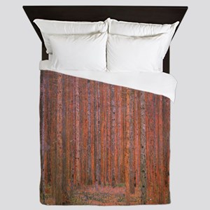 Fir Forest by Klimt Queen Duvet
