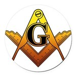 Freemason Round Car Magnet