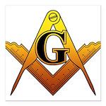 Freemason Square Car Magnet 3
