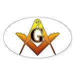 Freemason Sticker (Oval 10 pk)