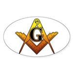 Freemason Sticker (Oval 50 pk)