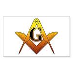 Freemason Sticker (Rectangle 50 pk)