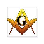 Freemason Square Sticker 3
