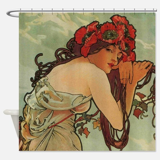 Summer by Mucha Shower Curtain