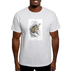 Proboscis Monkey Ash Grey T-Shirt