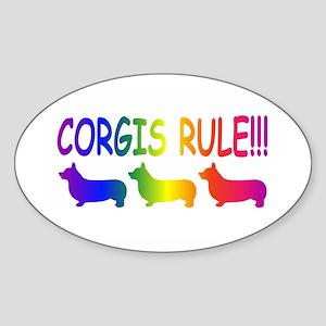 Corgi Sticker (Oval)