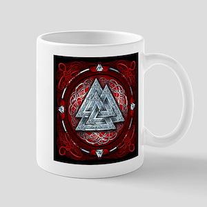 Norse Valknut Tapestry - Red Mug