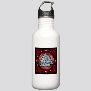 Norse Valknut Tapestry - Red Stainless Water Bottl