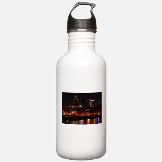 Nashville and the Cumberland River Water Bottle