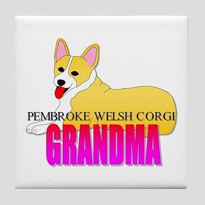 Pembroke Welsh Corgi Grandma Tile Coaster