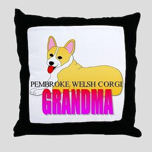 Pembroke Welsh Corgi Grandma Throw Pillow