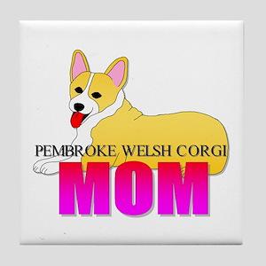 Pembroke Welsh Corgi Mom Tile Coaster