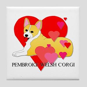 Pembroke Welsh Corgi Tile Coaster