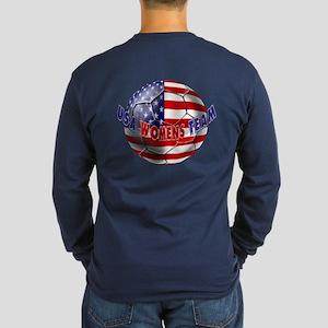 US Womens Soccer Long Sleeve Dark T-Shirt