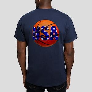 USA Basketball Men's Fitted T-Shirt (dark)