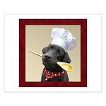 Black Labrador Chef Small Poster