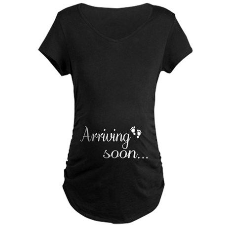 Arriving soon Maternity Dark T-Shirt