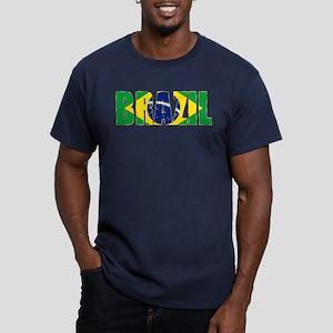 Brazil Logo Men's Fitted T-Shirt (dark)
