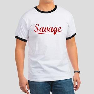 Savage, Vintage Red Ringer T