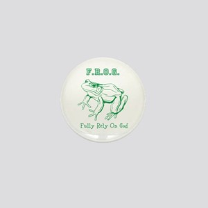 F.R.O.G. Fully Rely On God frog Mini Button
