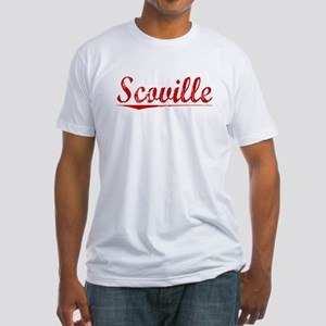 Scoville, Vintage Red Fitted T-Shirt