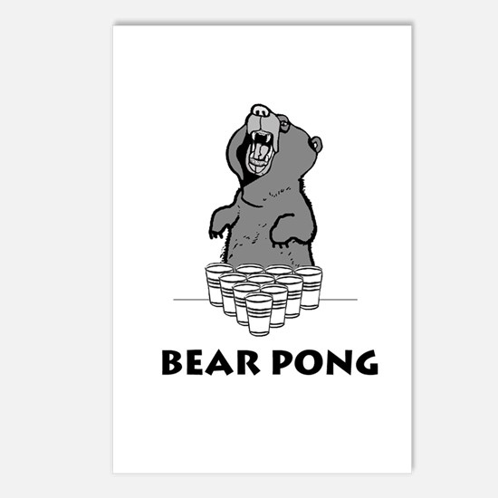 Bear Pong Postcards (Package of 8)
