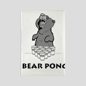 Bear Pong Rectangle Magnet