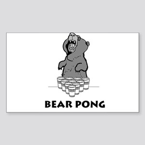 Bear Pong Rectangle Sticker