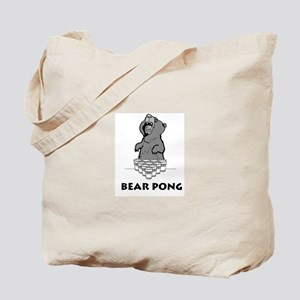 Bear Pong Tote Bag
