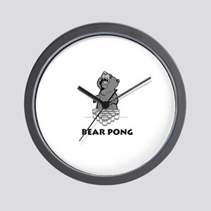 Bear Pong Wall Clock
