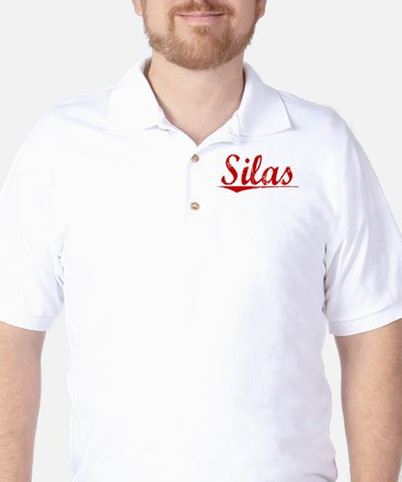 Silas, Vintage Red Golf Shirt