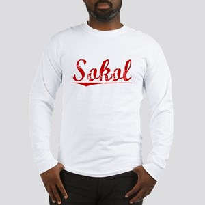 Sokol, Vintage Red Long Sleeve T-Shirt