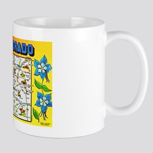 Colorado Map Greetings Mug