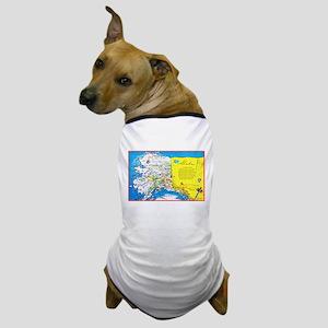 Alaska Map Greetings Dog T-Shirt
