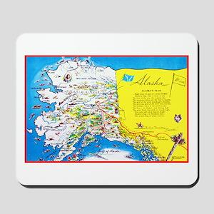 Alaska Map Greetings Mousepad