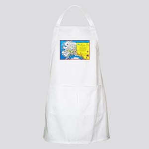 Alaska Map Greetings Apron