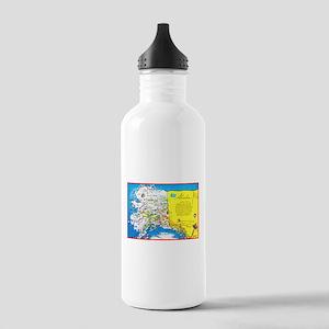 Alaska Map Greetings Stainless Water Bottle 1.0L