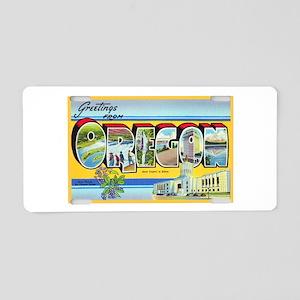 Oregon Greetings Aluminum License Plate