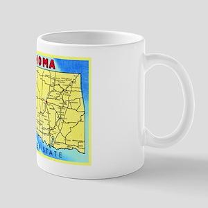 Oklahoma Map Greetings Mug