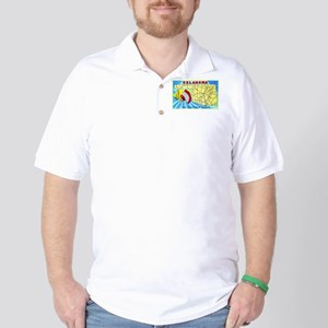 Oklahoma Map Greetings Golf Shirt