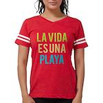 Life's a Beach Womens Football Shirt