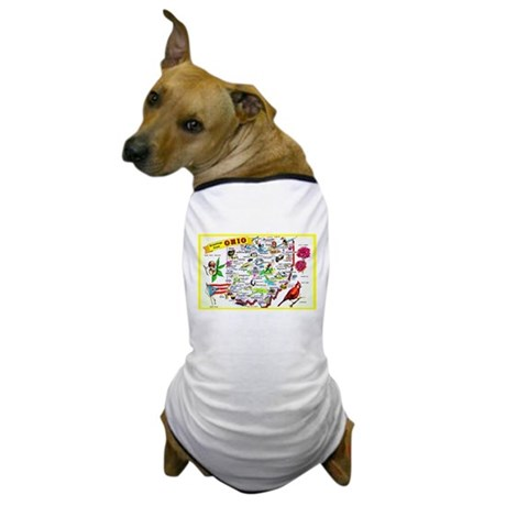 Ohio Map Greetings Dog T-Shirt