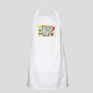 Ohio Map Greetings Apron