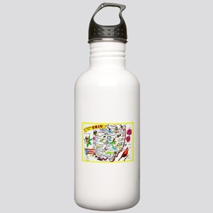 Ohio Map Greetings Stainless Water Bottle 1.0L