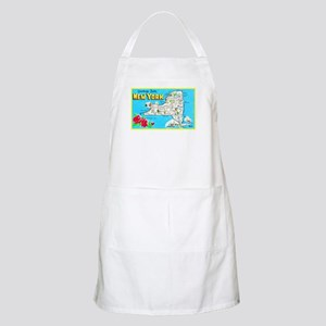 New York Map Greetings Apron