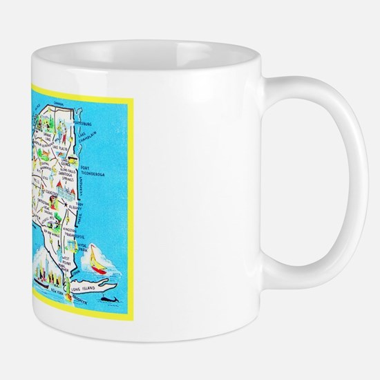 New York Map Greetings Mug