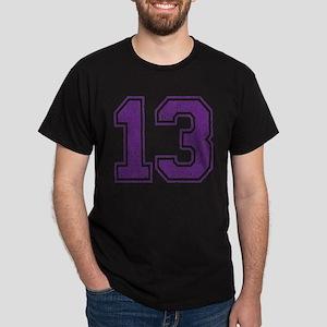 Retro 13 Number Dark T-Shirt